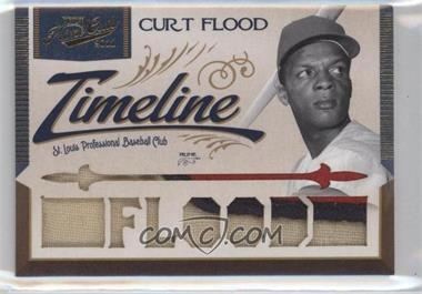 2011 Playoff Prime Cuts Timeline Materials Custom Die-Cut Player Name Prime #13 - Curt Flood /5