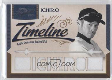 2011 Playoff Prime Cuts Timeline Materials Custom Die-Cut Player Name #23 - Ichiro /25