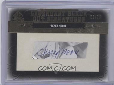 2011 SP Legendary Cuts - Black Cut Signatures - [Autographed] #STL-TM - Terry Moore