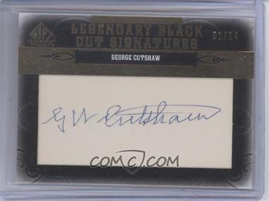2011 SP Legendary Cuts Black Cut Signatures [Autographed] #BRLA-GC - George Cutshaw /14
