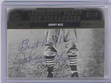2011 SP Legendary Cuts Black Cut Signatures [Autographed] #NYSF-JM - Johnny Mize /15