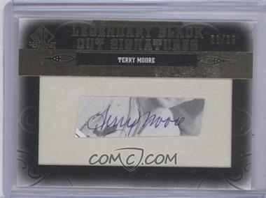 2011 SP Legendary Cuts Black Cut Signatures [Autographed] #STL-TM - Terry Moore