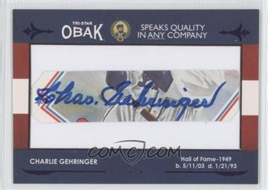 2011 TRISTAR Obak Cut Autographs Purple #N/A - Charlie Gehringer /1