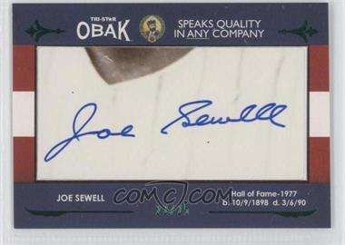 2011 TRISTAR Obak Cut Signatures Green #JOSE - Joe Sewell /25