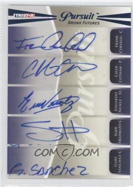 2011 TRISTAR Pursuit [???] #100 - Francisco Cervelli, Eduardo Nunez, Slade Heathcott, Gaby Sanchez, Casey Cox, Gary Sanchez, Caleb Cotham /50