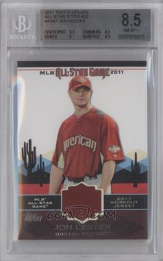 2011 Topps - All-Star Stitches #AS-67 - Jon Lester [BGS8.5]