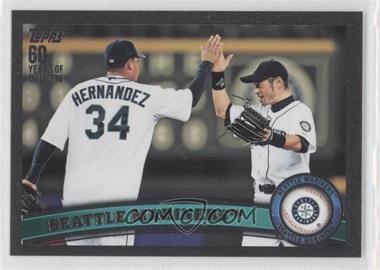 2011 Topps - [Base] - Black #589 - Seattle Mariners (Felix Hernandez, Ichiro Suzuki) /60
