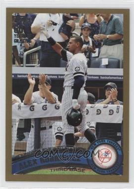 2011 Topps - [Base] - Gold #155 - Alex Rodriguez /2011