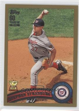 2011 Topps - [Base] - Gold #183 - Stephen Strasburg /2011