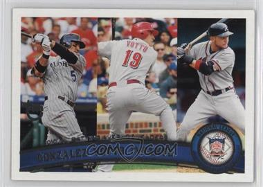 2011 Topps - [Base] - Target Throwback #134 - Carlos Gonzalez, Joey Votto, Omar Infante