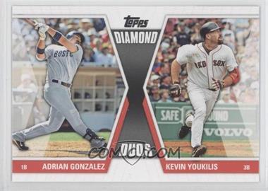 2011 Topps - Diamond Duos Series 2 #DD-10 - Adrian Gonzalez, Kevin Youkilis
