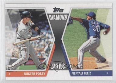 2011 Topps - Diamond Duos Series 2 #DD-17 - Buster Posey, Neftali Feliz