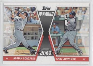 2011 Topps - Diamond Duos Series 2 #DD-4 - Adrian Gonzalez, Carl Crawford