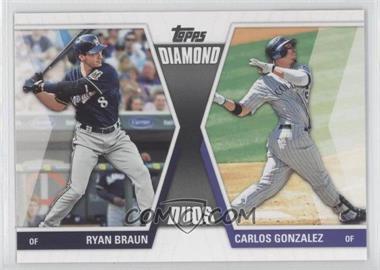 2011 Topps - Diamond Duos Series 2 #DD-6 - Ryan Braun, Carlos Gonzalez
