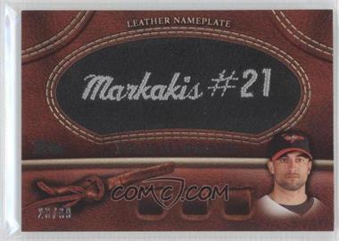 2011 Topps - Manufactured Glove Leather Nameplate - Black #MGL-NM - Nick Markakis /99
