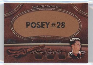 2011 Topps - Manufactured Glove Leather Nameplate #MGL-BP - Buster Posey