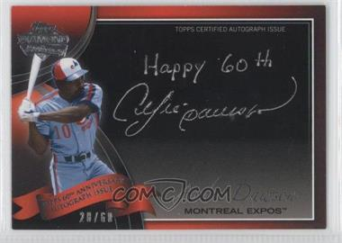 2011 Topps - Multi-Product Insert 60th Anniversary Autographs - [Autographed] #60A-ADA - Andre Dawson /60