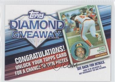 2011 Topps - Redemptions Diamond Giveaway Code Cards #TDG-11 - Tony Gwynn