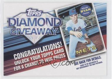 2011 Topps - Redemptions Diamond Giveaway Code Cards #TDG-13 - Nolan Ryan