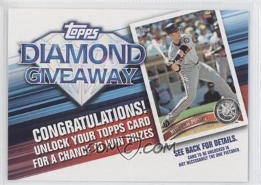 2011 Topps - Redemptions Diamond Giveaway Code Cards #TDG-16 - Buster Posey