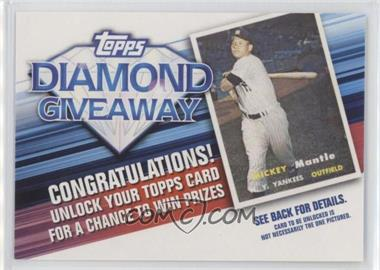2011 Topps - Redemptions Diamond Giveaway Code Cards #TDG-21 - Mickey Mantle