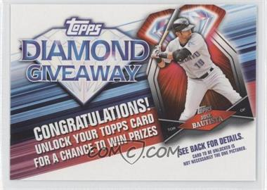 2011 Topps - Redemptions Diamond Giveaway Code Cards #TDG-29 - Jose Bautista