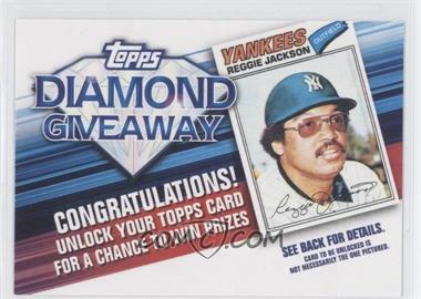 2011 Topps - Redemptions Diamond Giveaway Code Cards #TDG-3 - Reggie Jackson