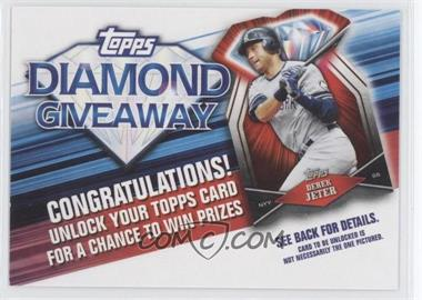 2011 Topps - Redemptions Diamond Giveaway Code Cards #TDG-7 - Derek Jeter