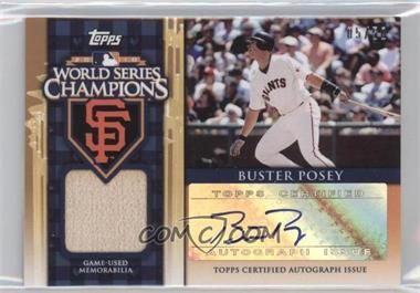 2011 Topps - World Series Champions - Autographed Relics [Autographed] #WCAR-BP - Buster Posey /50