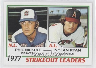 2011 Topps 60 Years of Topps Original Back #206 - Phil Niekro, Nolan Ryan