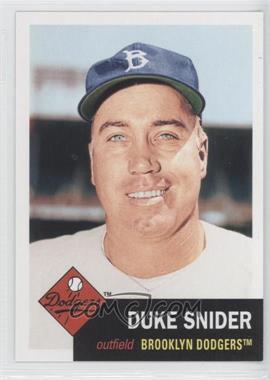 2011 Topps 60 Years of Topps: The Lost Cards Original Back #60YOTLC-2 - Duke Snider