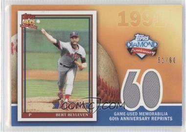 2011 Topps 60th Anniversary Reprints Relics #60ARR-BB - Bert Blyleven /60