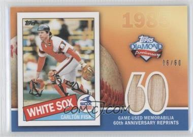 2011 Topps 60th Anniversary Reprints Relics #60ARR-CF - Carlton Fisk /60
