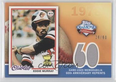 2011 Topps 60th Anniversary Reprints Relics #60ARR-EM - Eddie Murray /60