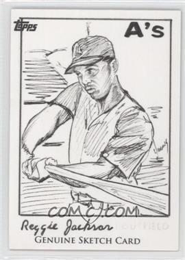 2011 Topps 60th Anniversary Sketch Cards #REJA - Reggie Jackson /1