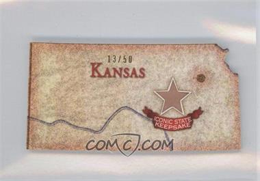 2011 Topps Allen & Ginter's - Box Loader U.S. Oversized Relic Cabinet #AGUS-KS - Kansas /50