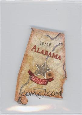 2011 Topps Allen & Ginter's Box Loader U.S. Oversized Relic Cabinet #AGUS-AL - Alabama /50