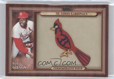 2011 Topps Blaster Box Throwback Manufactured Patch #TLMP-BG - Bob Gibson