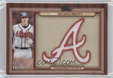 2011 Topps Blaster Box Throwback Manufactured Patch #TLMP-FF - Freddie Freeman
