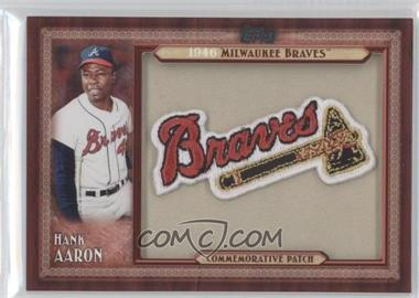 2011 Topps Blaster Box Throwback Manufactured Patch #TLMP-HA - Hank Aaron