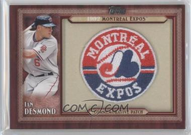 2011 Topps Blaster Box Throwback Manufactured Patch #TLMP-ID - Ian Desmond