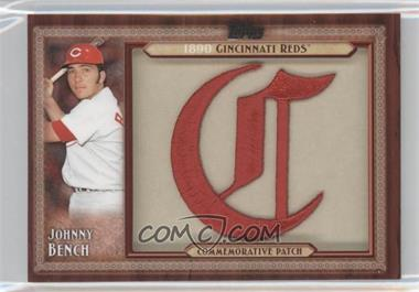 2011 Topps Blaster Box Throwback Manufactured Patch #TLMP-JB - Johnny Bench