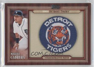 2011 Topps Blaster Box Throwback Manufactured Patch #TLMP-MC - Miguel Cabrera
