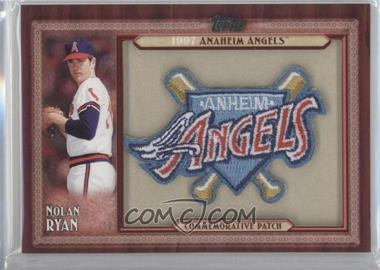 2011 Topps Blaster Box Throwback Manufactured Patch #TLMP-NR.1 - Nolan Ryan (Anaheim Angels)