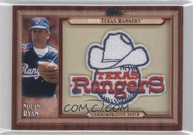 2011 Topps Blaster Box Throwback Manufactured Patch #TLMP-NRV.1 - Nolan Ryan (Texas Rangers)
