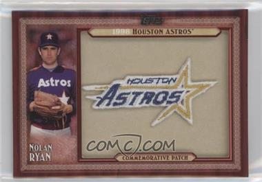2011 Topps Blaster Box Throwback Manufactured Patch #TLMP-NRY.2 - Nolan Ryan (Houston Astros)