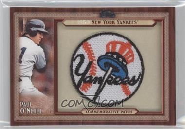 2011 Topps Blaster Box Throwback Manufactured Patch #TLMP-PO - Paul O'Neill