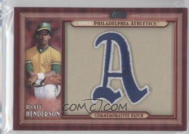 2011 Topps Blaster Box Throwback Manufactured Patch #TLMP-RH - Rickey Henderson
