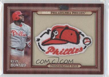 2011 Topps Blaster Box Throwback Manufactured Patch #TLMP-RHO - Ryan Howard