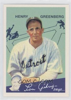 2011 Topps CMG Worldwide Vintage Reprints #CMGR-3 - Hank Greenberg